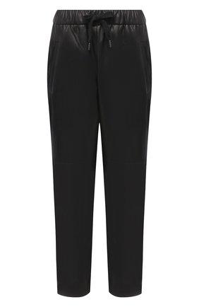 Женские кожаные брюки BRUNELLO CUCINELLI черного цвета, арт. M0TANP7414 | Фото 1