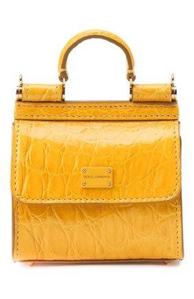 Женская сумка sicily 58 nano DOLCE & GABBANA желтого цвета, арт. BI1403/A2V87/CYAC | Фото 1