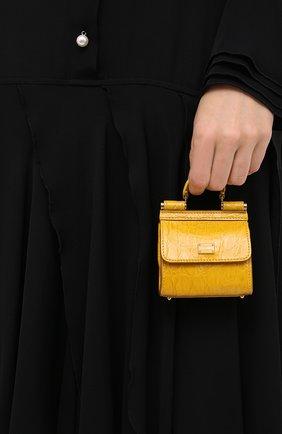 Женская сумка sicily 58 nano DOLCE & GABBANA желтого цвета, арт. BI1403/A2V87/CYAC | Фото 2