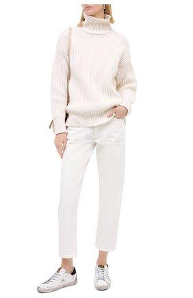 Женские кожаные кеды superstar GOLDEN GOOSE DELUXE BRAND белого цвета, арт. GWF00102.F000233 | Фото 2