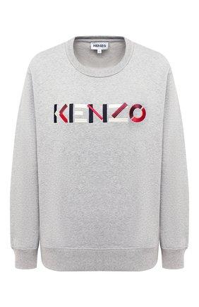 Женский хлопковый свитшот KENZO серого цвета, арт. FA62SW8204M0 | Фото 1