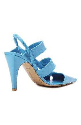 Женские кожаные туфли bv point BOTTEGA VENETA голубого цвета, арт. 630187/VBP10 | Фото 4