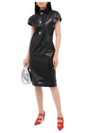 Женская кожаные туфли bv point BOTTEGA VENETA красного цвета, арт. 630187/VBP10 | Фото 2
