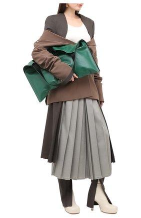 Женские кожаные ботильоны bv bold BOTTEGA VENETA кремвого цвета, арт. 631934/VBP40 | Фото 2
