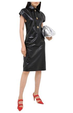 Женское кожаное платье BOTTEGA VENETA черного цвета, арт. 632924/VKB80 | Фото 2