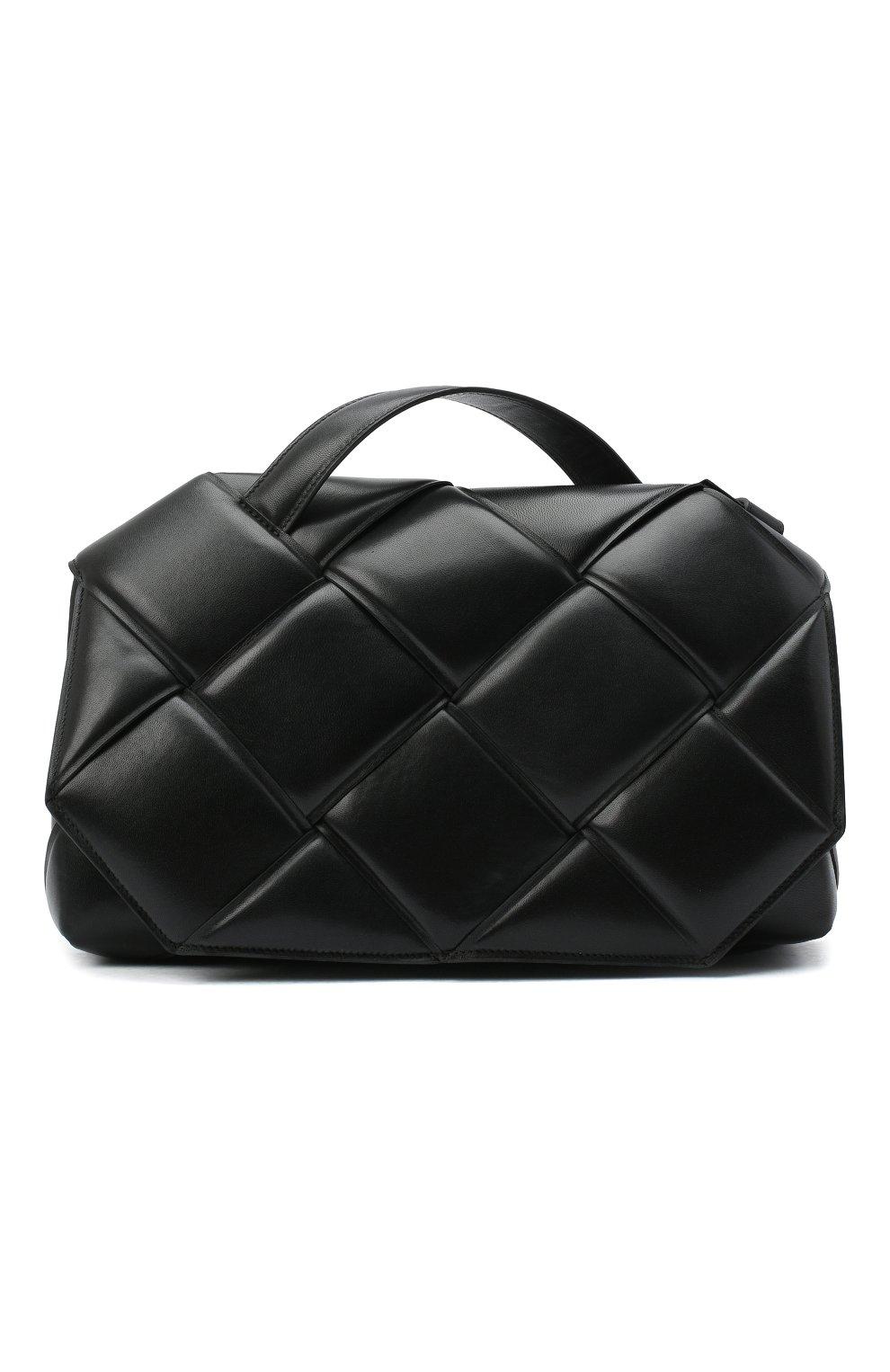 Женская сумка bv handle BOTTEGA VENETA черного цвета, арт. 632647/VCQR1   Фото 1