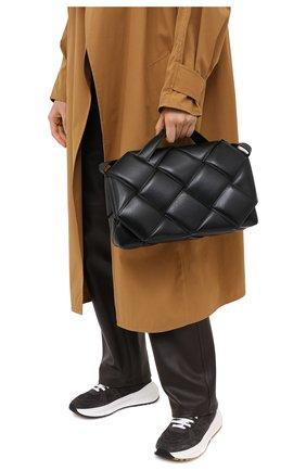 Женская сумка bv handle BOTTEGA VENETA черного цвета, арт. 632647/VCQR1   Фото 2