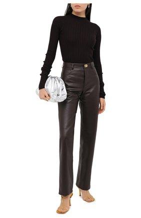 Женские кожаные брюки BOTTEGA VENETA коричневого цвета, арт. 630725/VKV90 | Фото 2