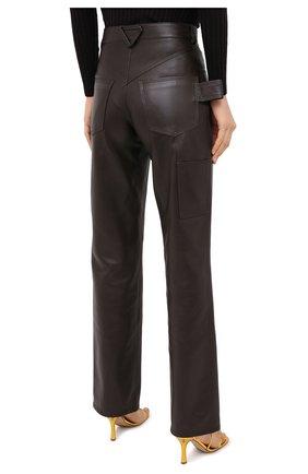 Женские кожаные брюки BOTTEGA VENETA коричневого цвета, арт. 630725/VKV90   Фото 5