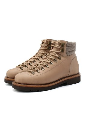 Мужские замшевые ботинки BRUNELLO CUCINELLI светло-бежевого цвета, арт. MZUSRMS890 | Фото 1