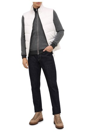 Мужские замшевые ботинки BRUNELLO CUCINELLI светло-бежевого цвета, арт. MZUSRMS890 | Фото 2