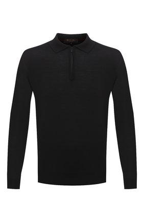 Мужское шерстяное поло LORO PIANA темно-серого цвета, арт. FAI8083 | Фото 1