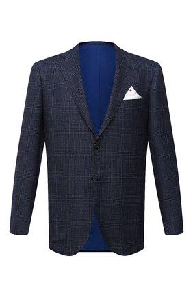 Мужской пиджак из шерсти и кашемира KITON синего цвета, арт. UG81K01T91   Фото 1