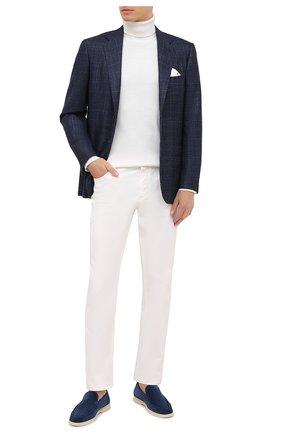 Мужской пиджак из шерсти и кашемира KITON синего цвета, арт. UG81K01T91   Фото 2
