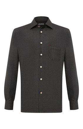 Мужская шерстяная рубашка KITON темно-зеленого цвета, арт. UMCNERK01T3802 | Фото 1