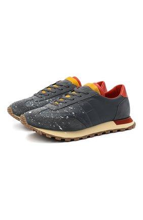 Мужские комбинированные кроссовки replica MAISON MARGIELA серого цвета, арт. S57WS0283/P3137 | Фото 1