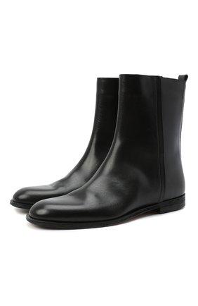 Мужские кожаные сапоги MAISON MARGIELA черного цвета, арт. S57WU0210/P0412 | Фото 1