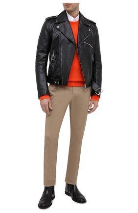 Мужские кожаные сапоги MAISON MARGIELA черного цвета, арт. S57WU0210/P0412 | Фото 2
