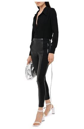 Женские брюки BURBERRY черного цвета, арт. 8029897 | Фото 2