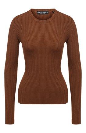Женская шерстяной пуловер DOLCE & GABBANA коричневого цвета, арт. FX853T/JAVYN | Фото 1