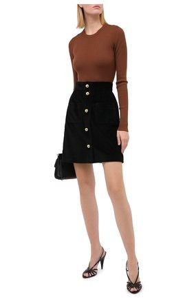 Женская шерстяной пуловер DOLCE & GABBANA коричневого цвета, арт. FX853T/JAVYN | Фото 2
