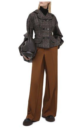 Женский шерстяной жакет DOLCE & GABBANA серого цвета, арт. F25ADT/FQMHZ | Фото 2