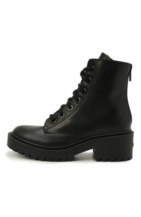 Женские кожаные ботинки pike KENZO черного цвета, арт. FA62BT341L63 | Фото 2 (Подошва: Платформа; Материал утеплителя: Натуральный мех; Женское Кросс-КТ: Военные ботинки; Каблук высота: Низкий)