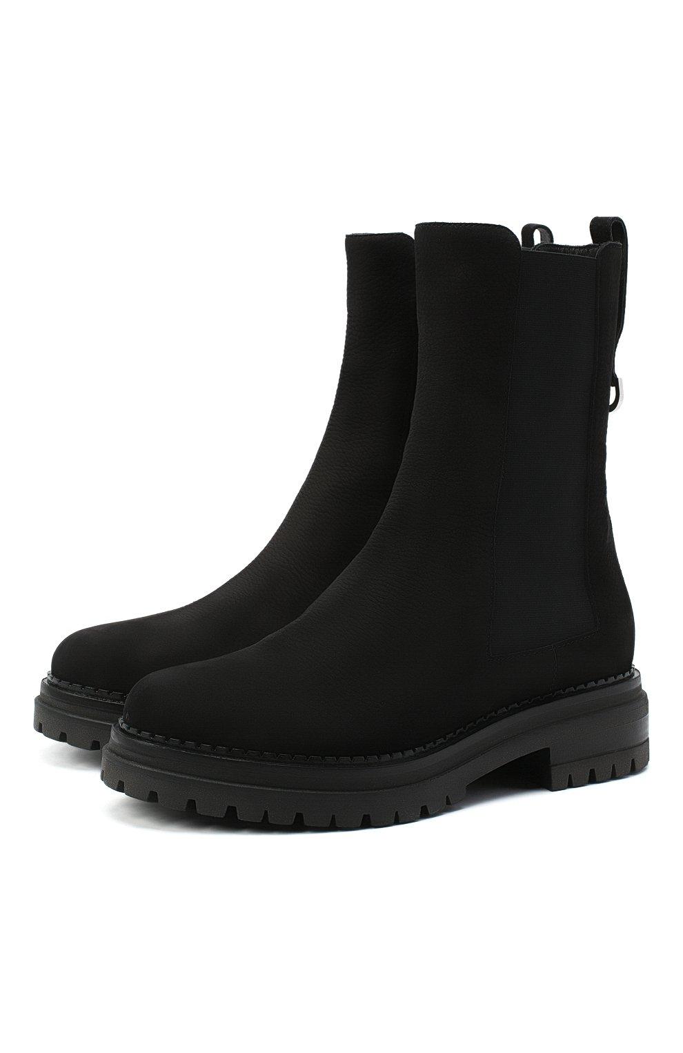 Женские кожаные ботинки SERGIO ROSSI черного цвета, арт. A92030-MMVR19 | Фото 1