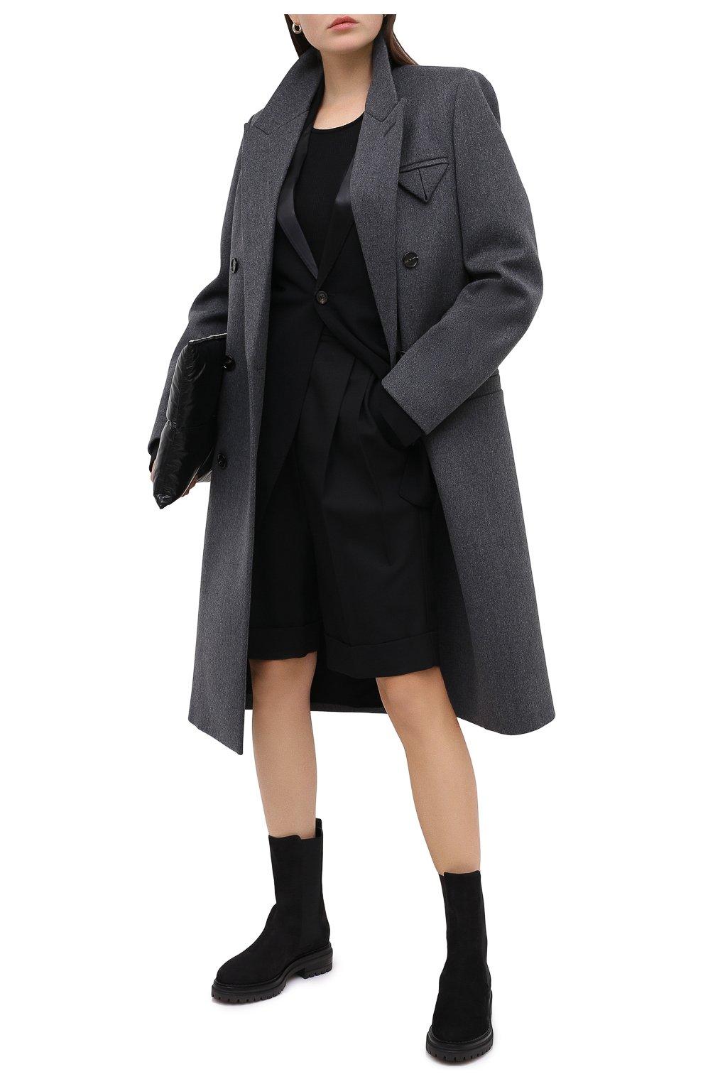 Женские кожаные ботинки SERGIO ROSSI черного цвета, арт. A92030-MMVR19 | Фото 2