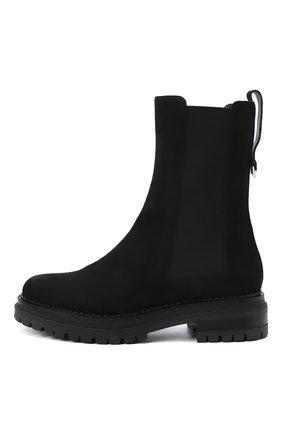 Женские кожаные ботинки SERGIO ROSSI черного цвета, арт. A92030-MMVR19 | Фото 3