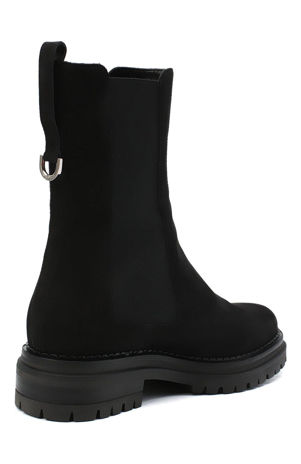 Женские кожаные ботинки SERGIO ROSSI черного цвета, арт. A92030-MMVR19 | Фото 4
