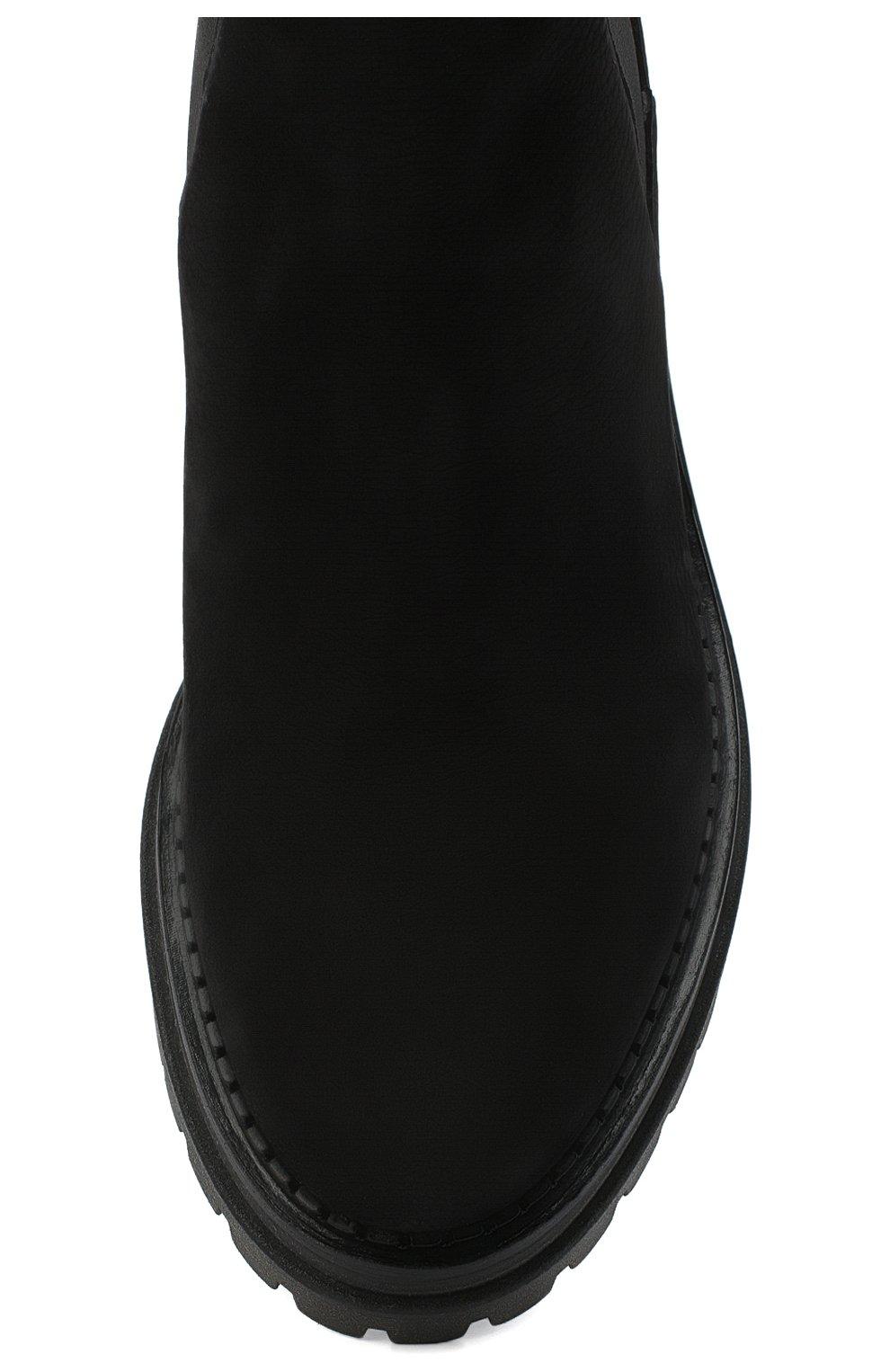 Женские кожаные ботинки SERGIO ROSSI черного цвета, арт. A92030-MMVR19 | Фото 5