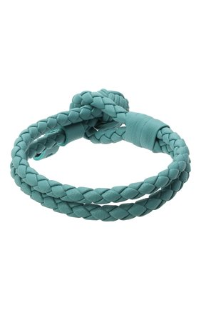 Женский кожаный браслет BOTTEGA VENETA голубого цвета, арт. 612982/V00BG | Фото 2