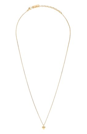Женская кулон на цепочке SAINT LAURENT золотого цвета, арт. 632310/Y1500 | Фото 1