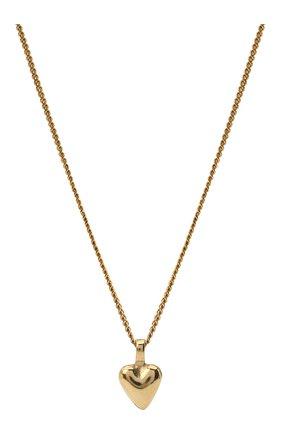 Женская кулон на цепочке SAINT LAURENT золотого цвета, арт. 632310/Y1500 | Фото 2