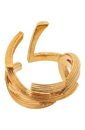 Женское кольцо SAINT LAURENT золотого цвета, арт. 584067/Y1500   Фото 2 (Материал: Металл)
