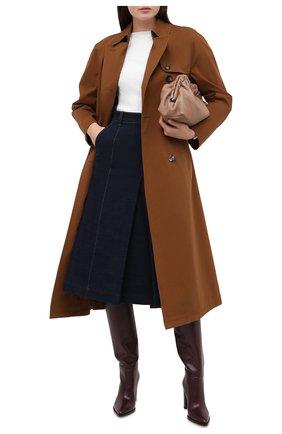 Женский хлопковый тренч LORO PIANA коричневого цвета, арт. FAL2266 | Фото 2