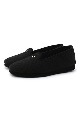Женского домашние туфли LORO PIANA черного цвета, арт. FAG4785 | Фото 1