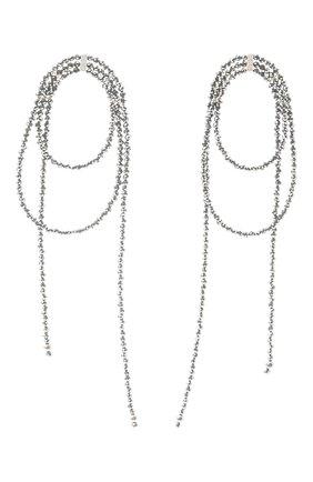 Женские серьги BRUNELLO CUCINELLI серебряного цвета, арт. M0RW9LV20P/M | Фото 1