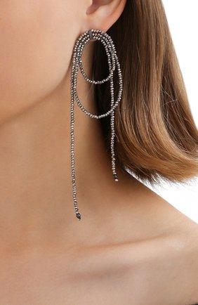 Женские серьги BRUNELLO CUCINELLI серебряного цвета, арт. M0RW9LV20P/M | Фото 2