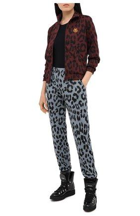 Женские кожаные ботинки alaska KENZO черного цвета, арт. FA62BT301L64 | Фото 2 (Подошва: Платформа; Материал утеплителя: Натуральный мех; Женское Кросс-КТ: Хайкеры-ботинки)