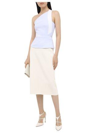 Женская кожаные туфли saoni 100 JIMMY CHOO белого цвета, арт. SA0NI 100/NAP | Фото 2