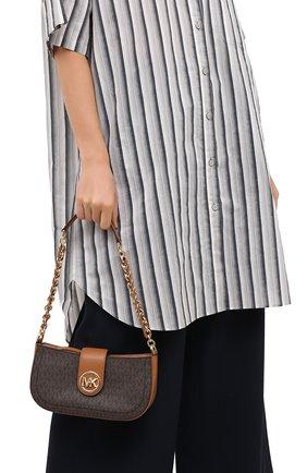 Женская сумка carmen MICHAEL MICHAEL KORS коричневого цвета, арт. 32S0GNMU0B   Фото 2
