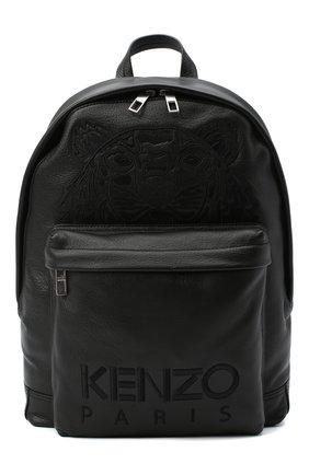 Женский рюкзак kampus KENZO черного цвета, арт. FA65SF300L49 | Фото 1 (Размер: large; Материал: Натуральная кожа; Стили: Спорт)