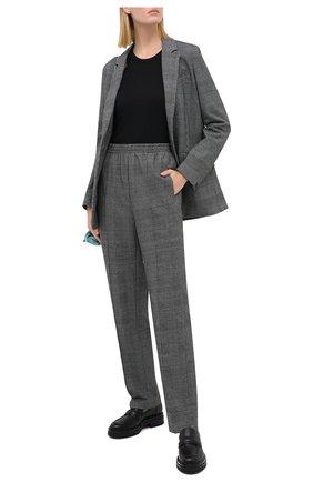 Женские хлопковый брюки RAG&BONE серого цвета, арт. WAW20P70442U44 | Фото 2