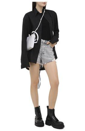 Женские джинсовые шорты RAG&BONE светло-серого цвета, арт. WDD20P1902D3AH | Фото 2