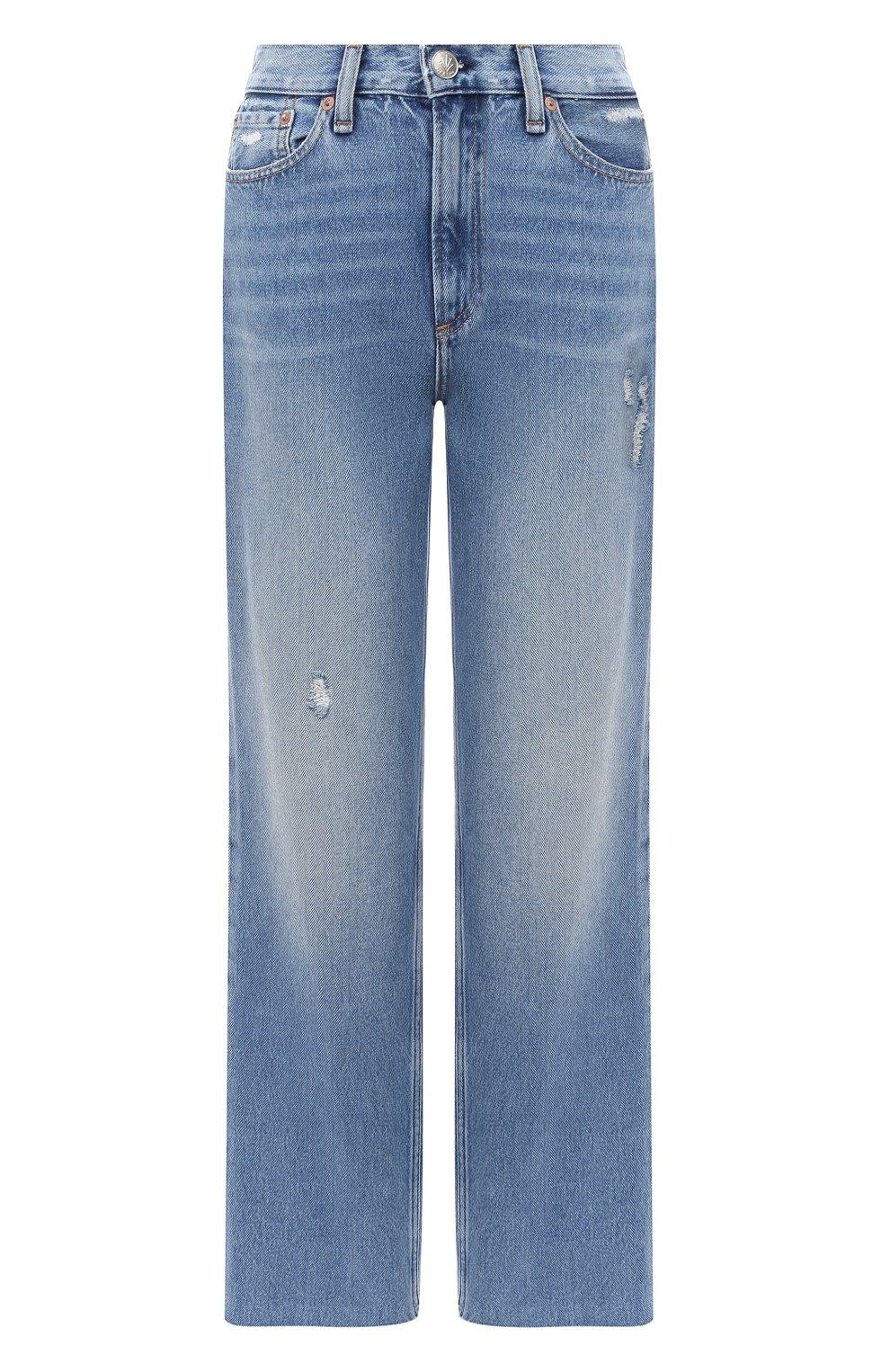 Женские джинсы RAG&BONE синего цвета, арт. WDD20P2665D6BR   Фото 1