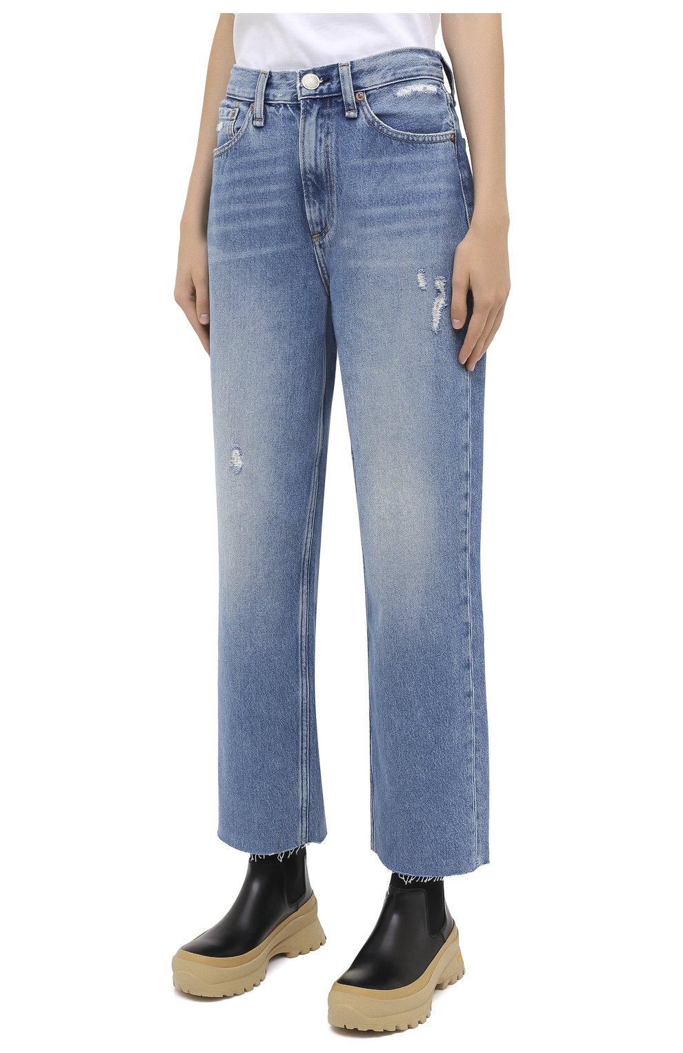 Женские джинсы RAG&BONE синего цвета, арт. WDD20P2665D6BR   Фото 3