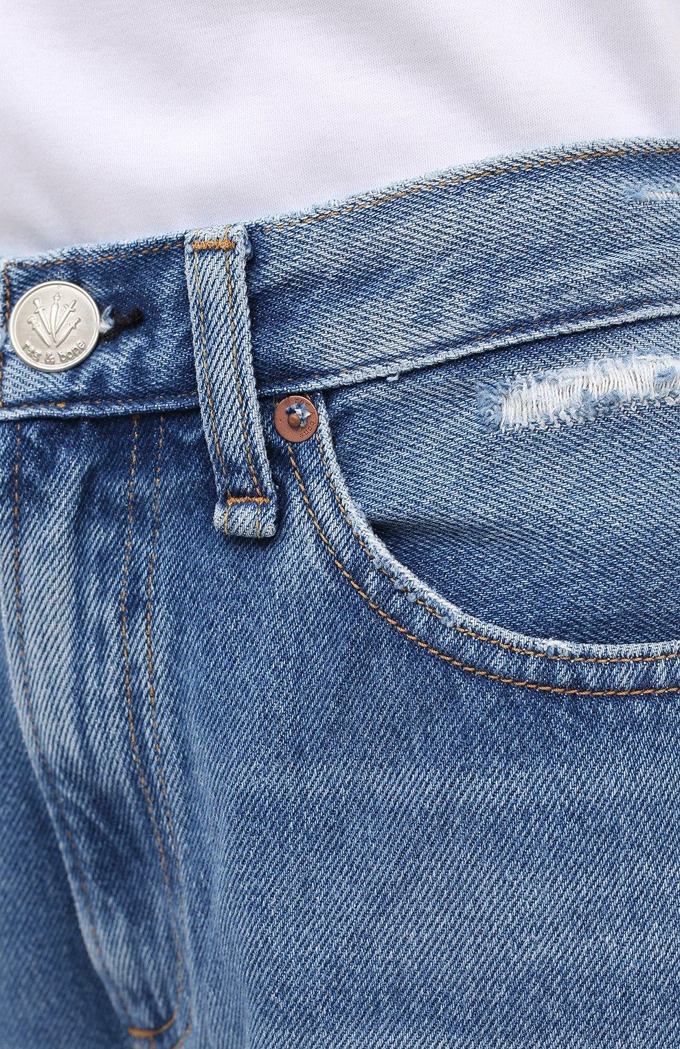 Женские джинсы RAG&BONE синего цвета, арт. WDD20P2665D6BR   Фото 5