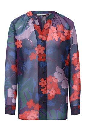 Женская шелковая блузка DRIES VAN NOTEN фиолетового цвета, арт. 202-30754-1084 | Фото 1